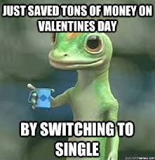 Funny Memes For Valentines Day - just saved a ton of money on valentines day