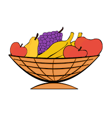 thanksgiving clipart fruit basket pencil and in color