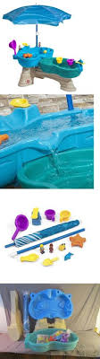 step2 spill splash seaway water table water toys 145993 buckets of fun 6 in 1 backyard water park splash