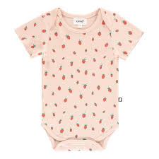 Pima Cotton Baby Clothes Organic Pima Cotton Strawberry Body Pale Pink Oeuf Nyc Fashion