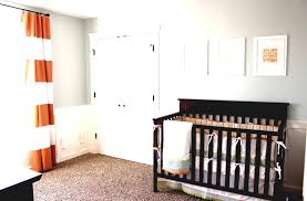 interior design lovely red horizontal striped curtains plus crib