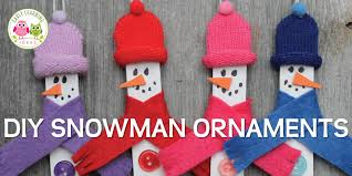 snowman crafts for a diy snowman ornament early