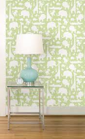 Peel And Stick Wallpaper by Wall Pops Nu1392 Green Its A Jungle In Here Peel And Stick