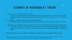 ernestine wiedenbach the helping art of clinical nursing ppt