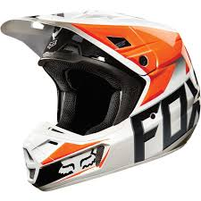 fox motocross helmet all new fox racing 2015 v2 race helmet orange gloss finish wide