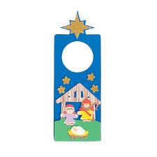 nativity doorknob hanger craft kit orientaltrading com 7 00 for