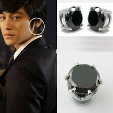 black ear studs a pair of new mens magnetic earring ear stud stainless steel