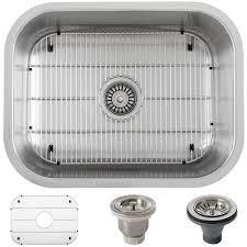 Ticor Kitchen Sinks Ticor 23 Inch 16 Ss Single Bowl Undermount Kitchen Sink With