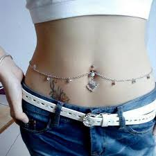 chain belly rings images Sexy jewelry auniquestyle dainty crystal bar waist chain jpg