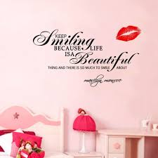 keep smiling marilyn monroe quote vinyl wall decal marilyn monroe keep smiling marilyn monroe quote gorgeous bedroom wall sticker black marilyn monroe quote decal