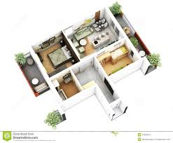 3d floor plan stock photo image 45834716