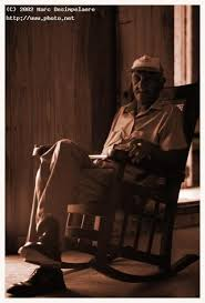 Old Man In Rocking Chair Old Man Sitting In A Rocking Chair