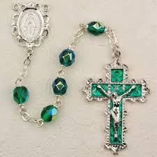birthstone rosary may birthstone rosary emerald rhodium plated