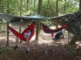 Cocoon Hammock Camping Can U0027t Afford A Real Hammock Tarp I Use A Tent Footprint It U0027s