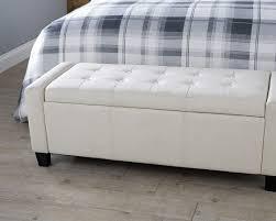 verona fabric ottoman storage bench
