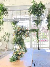 wedding arch garland wedding arches wright flower company