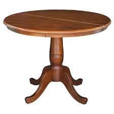 round wood dining table with leaf round pedestal 36 dining table with 12 leaf international