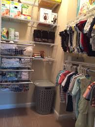 custom closet for the nursery rubbermaid homefree from lowes
