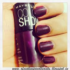 maybelline color show nail polish crazy berry review and notd