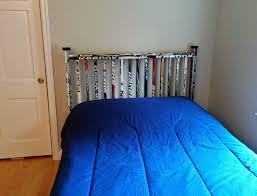 hockey bedrooms hockey stick headboard pinteres