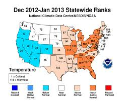 temperature map usa january national climate report january 2013 state of the climate