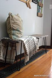 beyond the picket fence live edge hairpin bench