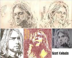 kurt cobain drawing nirvana whatever nevermind by sbdrawings on