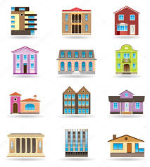 buildings and houses in different architectural styles u2014 stock