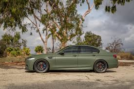 green bmw if anything a matte military green bmw m5 is certainly different