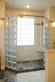 how to create a luxury glass block shower with a frameless glass door