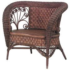 19th c american small wicker loveseat attributed to heywood