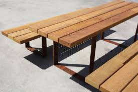 pic bull benches with tables from metalco architonic