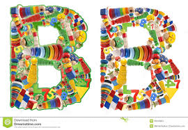 wooden toys alphabet letter b stock images image 35019364