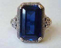 sapphire ring etsy