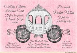 pink and silver baby shower fairytale coach baby shower invitation princess royal