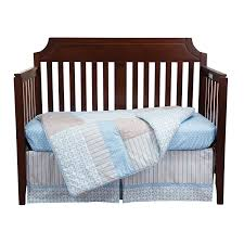 amazon com trend lab logan 3 piece crib bedding set blue crib