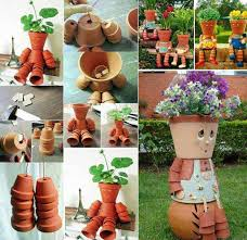 Craft Garden Ideas - 26 budget friendly and fun garden projects made with clay pots