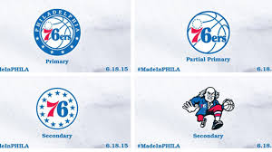 the 76ers logo starry white and blue nba
