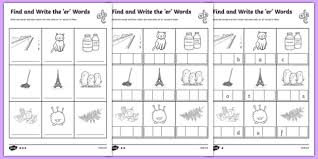 find and write the er words differentiated activity sheet pack