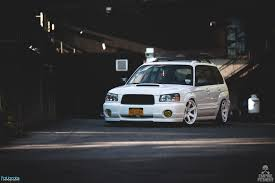 bagged subaru wagon stancenation subaru forester google search slammed rides