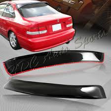 2000 honda civic spoiler for 1996 2000 honda civic coupe black abs plastic rear window roof