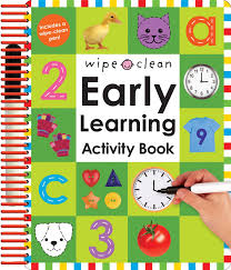 wipe clean early learning activity book wipe clean
