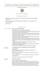 Quality Manager Resume Sample by Purchaser Resume Samples Visualcv Resume Samples Database