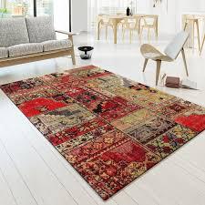 designer teppich designer teppich bunt orient muster multicolour rot schwarz gelb