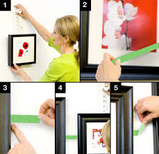 How To Hang Picture Frames That Have No Hooks | tips to space picture frames evenly utr déco blog