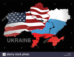 map usa and russia ukraine map usa v russia stock vector illustration vector