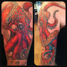 realistic octopus tattoo by empire state studios