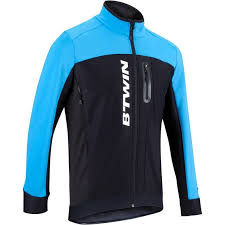 cycling jacket blue 700 warm cycling jacket black blue decathlon