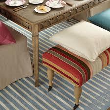 sanskrit striped cotton dhurrie rug large oka