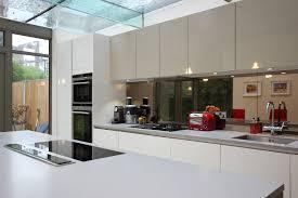 mirror backsplash kitchen contemporary with mirrored splash backs